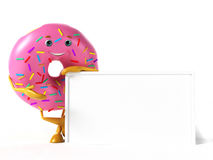 Food character - donut Stock Images