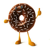 Food character - donut Royalty Free Stock Photos