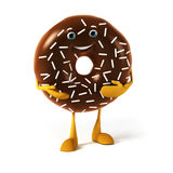 Food character - donut Stock Photography