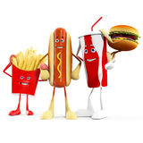 Food character -  fast food Stock Photography