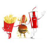 Food character -  fast food Stock Images