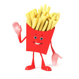 Food character -  french fries Royalty Free Stock Photo