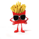 Food character -  french fries Royalty Free Stock Images