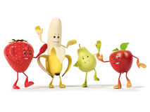Food character -  fruits Stock Photo