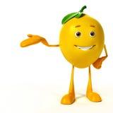 Food character -  lemon Stock Image