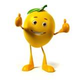 Food character -  lemon Stock Photos