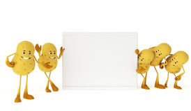 Food character - potato Royalty Free Stock Photos