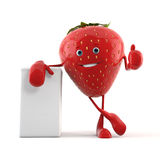Food character - strawberry Royalty Free Stock Images