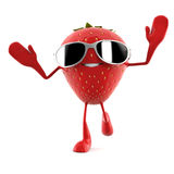 Food character - strawberry Stock Image