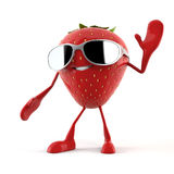 Food character - strawberry Stock Images