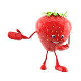 Food character - strawberry Stock Photos