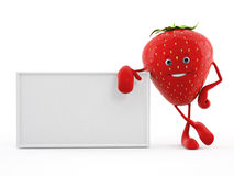 Food character - strawberry Royalty Free Stock Image