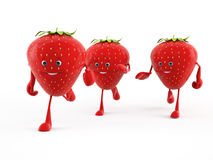 Food character - strawberry Stock Photo