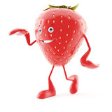 Food character - strawberry Royalty Free Stock Photos