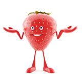 Food character - strawberry Royalty Free Stock Photo