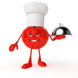 Food character - tomato Royalty Free Stock Images