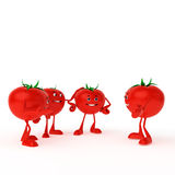 Food character - tomato Royalty Free Stock Photo