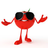 Food character - tomato Royalty Free Stock Image
