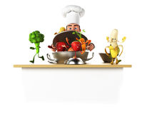 Food character - vegetables Stock Image