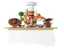 Food character - vegetables Stock Photography