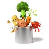 Food character - vegetables Stock Photos