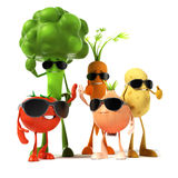 Food character - vegetables Royalty Free Stock Image