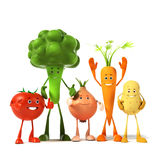 Food character - vegetables Royalty Free Stock Photography