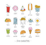 Food characters color Stock Photography