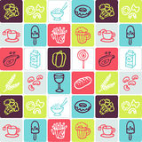 Food checked pattern stock photos