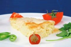 Food : cheese casserole piece Stock Photo