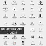 Food chef logo collection design vector icon element. Logo set download stock image