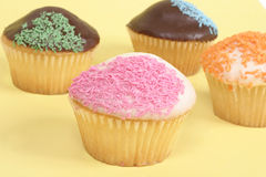 Food: Childrens cupcakes royalty free stock images