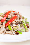Food in china--chili fried pig stomach Stock Image
