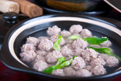 Food in china--pig meat ball Royalty Free Stock Photography