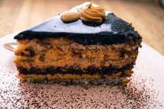 Food chocolate cake with nuts cocoa Royalty Free Stock Photos