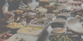 Food Choice Dining Eating Event Festive Buffet Concept stock images