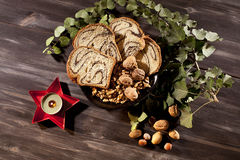 Food for christmas celebration Royalty Free Stock Image