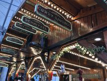 Food at Christmas Markets. Christmas Markets in Southampton Fast Food Royalty Free Stock Image