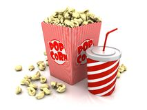 Food of cinema Royalty Free Stock Photos