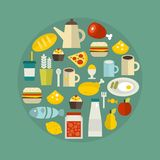Food circle. Royalty Free Stock Images