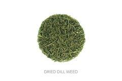 Food circle dried herbs dill Royalty Free Stock Photos