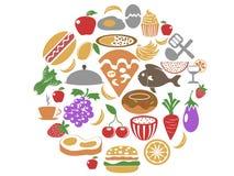 Food circle set Stock Images