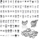 Food clipart. Part 1. Stock Photography