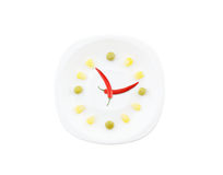 Food clock isolated Royalty Free Stock Images