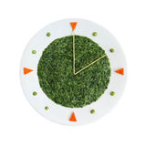Food clock Royalty Free Stock Photography