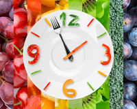 Food clock Stock Images