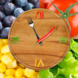 Food clock Royalty Free Stock Image