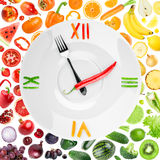 Food clock Stock Photos