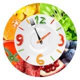 Food clock Stock Photo
