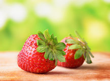 Fresh ripe red juicy strawberries Royalty Free Stock Image